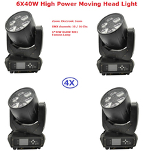 4XLot Best Price 6X40W RGBW Quad Color LED Bee Eyes Moving Head Light High Power 280W Beam Lights Free Shipping