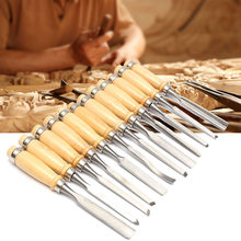 Professional 12Pcs/set Wood Carving Hand Chisel Tool Set Woodworking Carving Chisel Set Hand Tools(China)