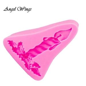 DIY Форма Свечи лист помадка силиконовые формы для 3D ремесел Торт Украшение Инструмент шоколадные формы для мастики глина смолы F1376
