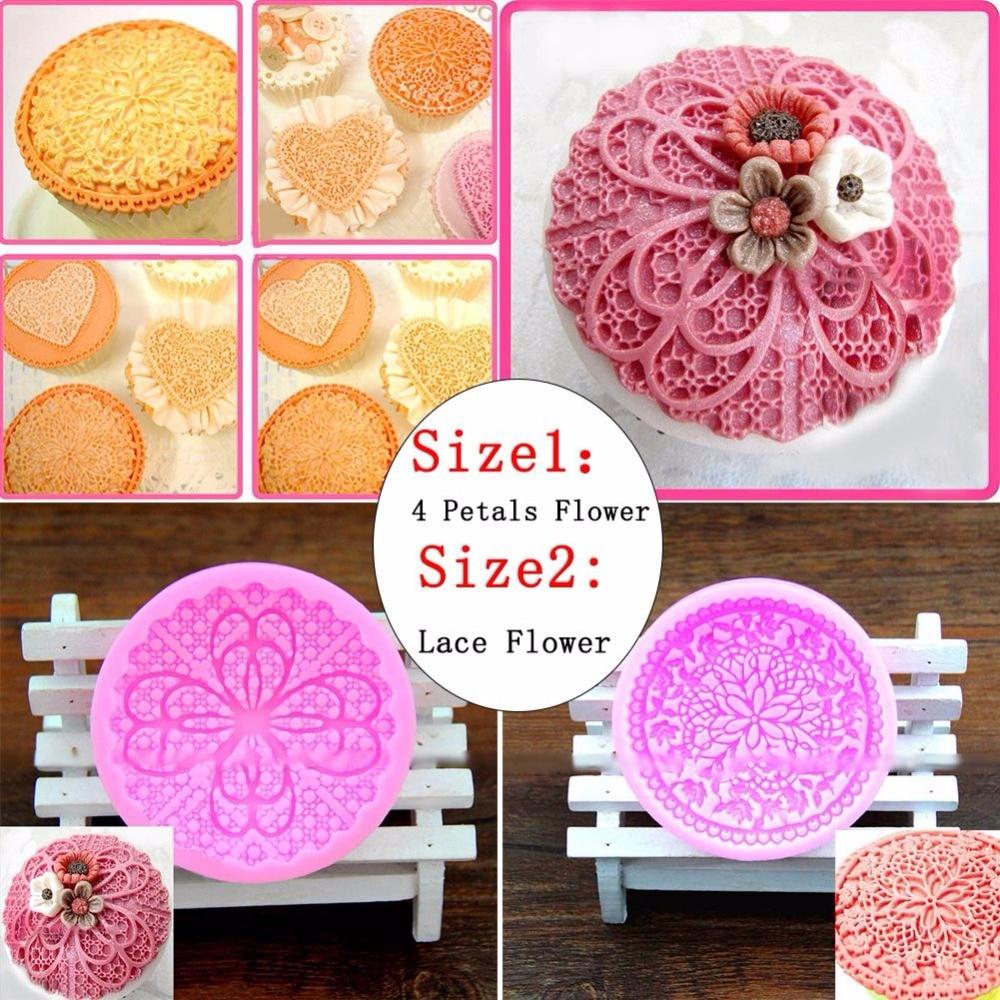 Kitchen Shears In Baking: SOLEDI Flower Cake Lace Silicone Mold Cake Decorating