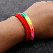 Hot Colorful Rope Lucky Red String Thread Charm Bracelets For Women Men Jewelry Gifts Bieklik
