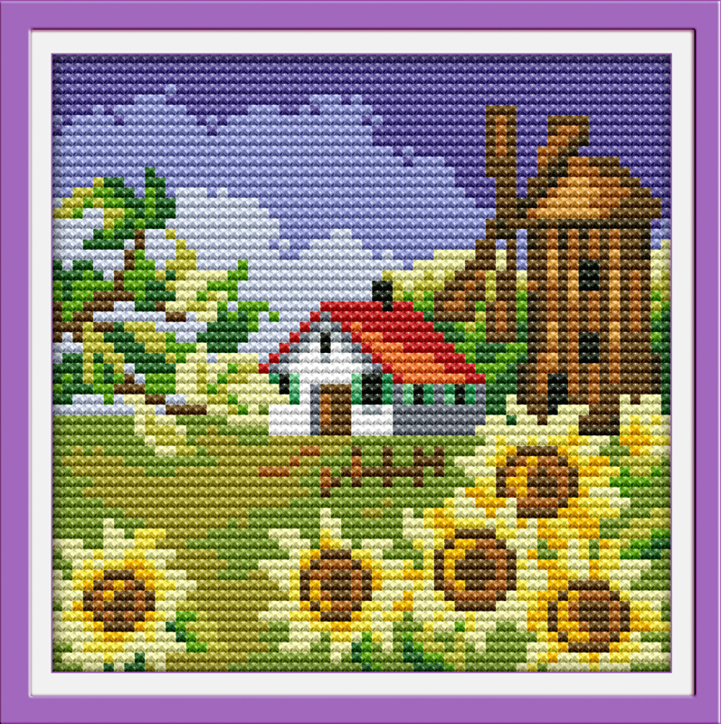 SMALL COUNTED CROSS STITCH KIT*FLOWERS*