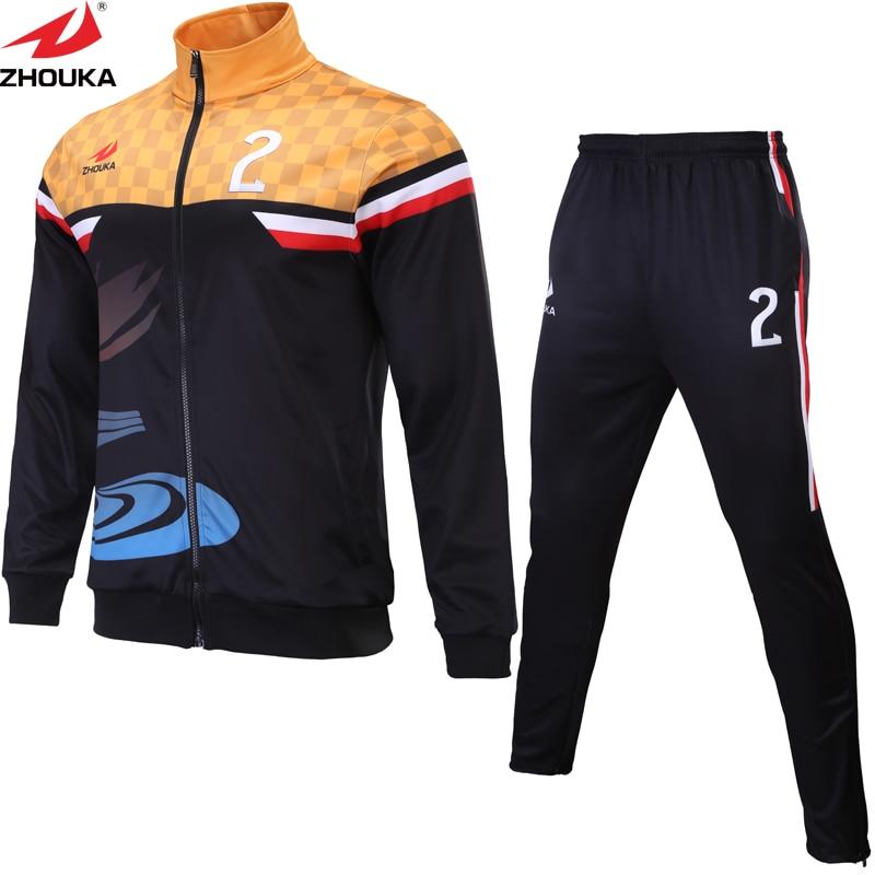 2019 maillots de Football ensemble costume d'entraînement hommes femmes garçons conception impression par Sublimation personnalisé Football formation survêtement combinaison