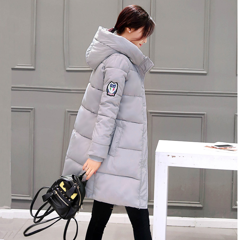 2019 women winter hooded warm coat cotton padded jacket female long parka womens wadded jaqueta feminina slim parkas