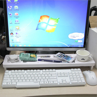 White Multifunctional Computer Keyboard Shelf Storage Products Desk Organizer