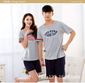 Summer ladies Lovers pajamas cotton short sleeved summer couple sleepwear
