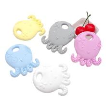 цена Chenkai 10PCS BPA Free Safe Silicone Octopus Teether Necklace Pendant DIY Baby Teether Dummy Chewable Nursing Teething Toy Jewel в интернет-магазинах