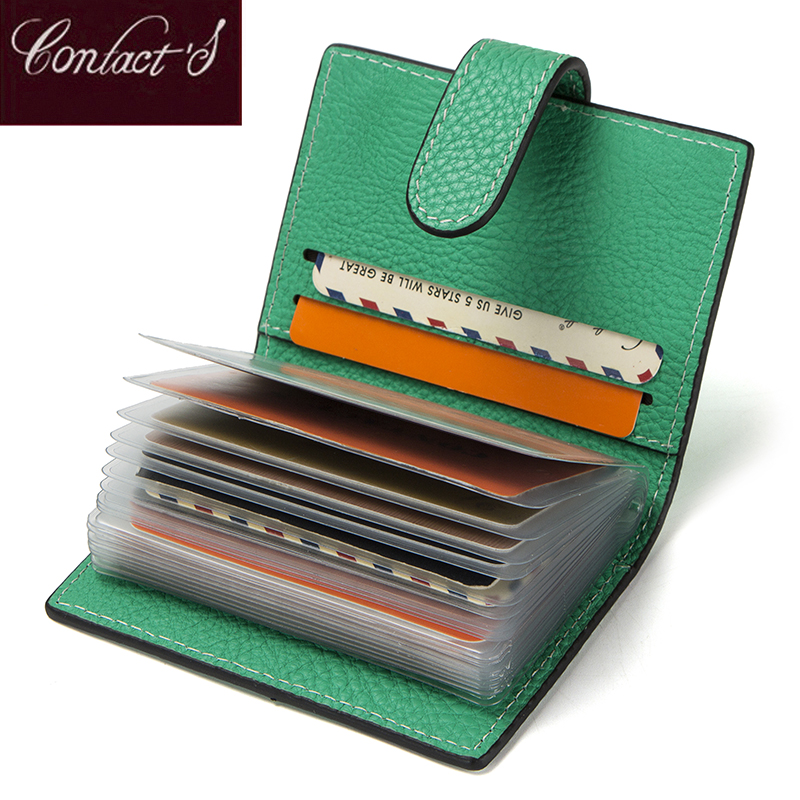 2018 New Fashion Hasp Design Credit Card Case Genuine Leather Card Holder Wallet For Women High Quality Origanizer Bag Purse 2087 women new fashion long hasp wallet cute purse for juniors flower pattern design magnetic snap closure credit store