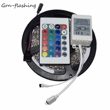 LED Strip 2835/3528 300 LEDs DC 12V RGB LED Strip Lighting Non-waterproof with 24Key IR Remote controller for Home Decorative