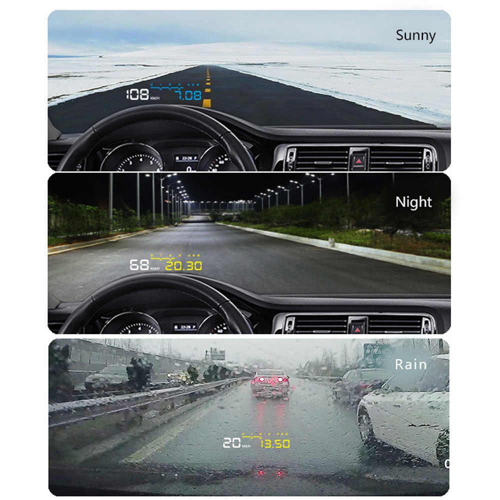 Eanop en-carro inteligente hud cabeça up display obd ii eobd velocímetro do carro digital para audi a6 c6 toyota ford