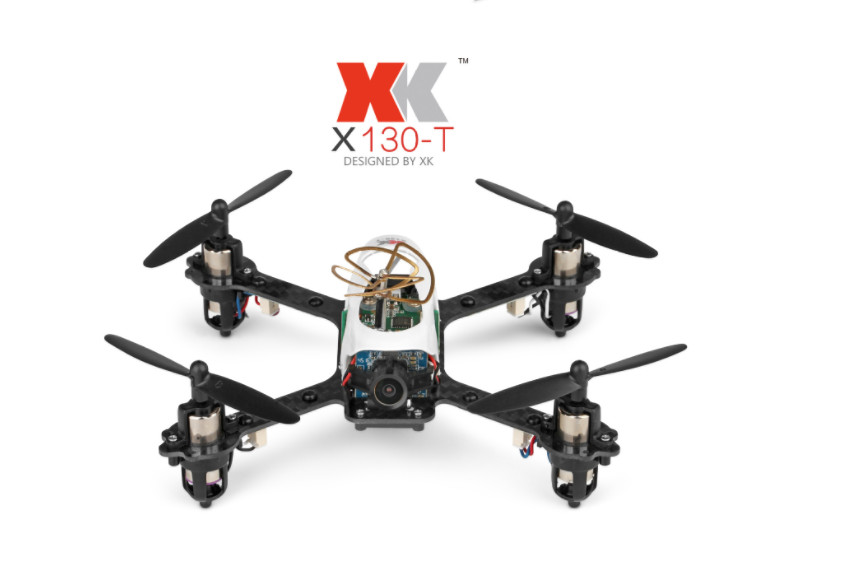 Original XK X130-T Mini Speed Racing Drone with HD Camera 5.8G FPV 3D/6G Mode 2.4G 4CH Carbon Fiber Frame RC Quadcopter dron RTF