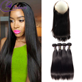 Annabelle Hair 360 Lace Frontal With Bundle Straight Brazilian Hair Mink Brazilian Hair Pre Plucked 360 Frontal With Bundles