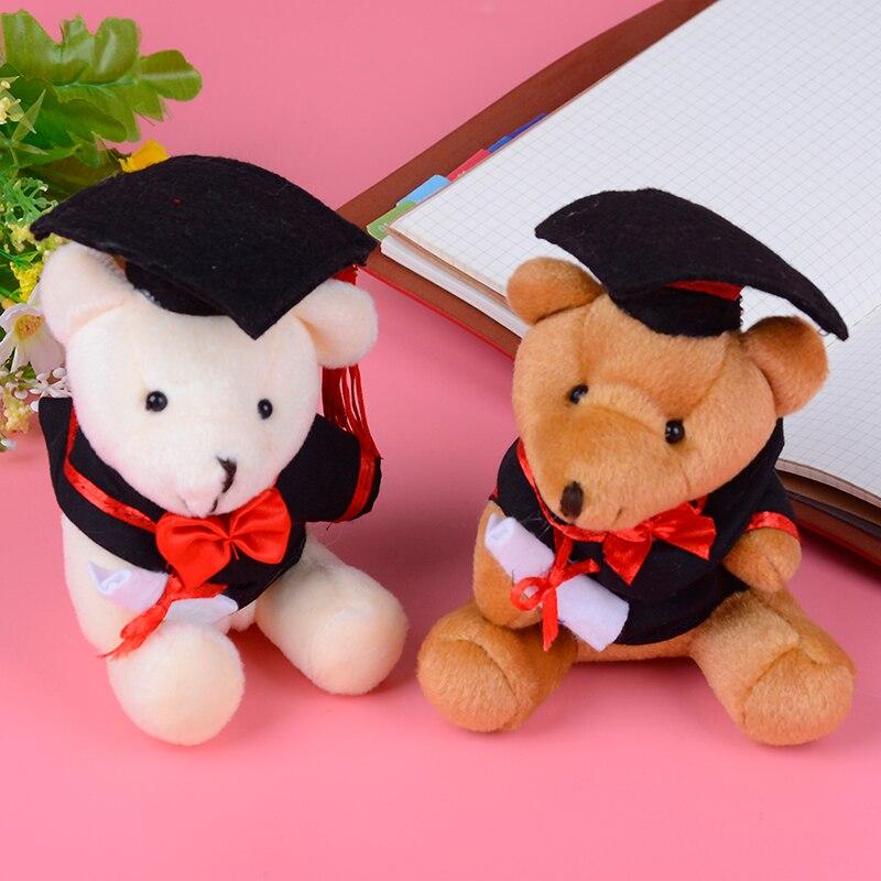 1pc cute graduation Teddy bear plush toy cartoon good quality Dr.bear dolls stuffed soft toys for children kids gift