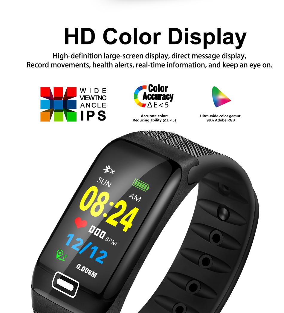 WISHDOIT Smart Sport Watch New Waterproof Watch Blood Pressure Heart Rate Detection Pedometer for ios Android Fitness Watch +Box 4