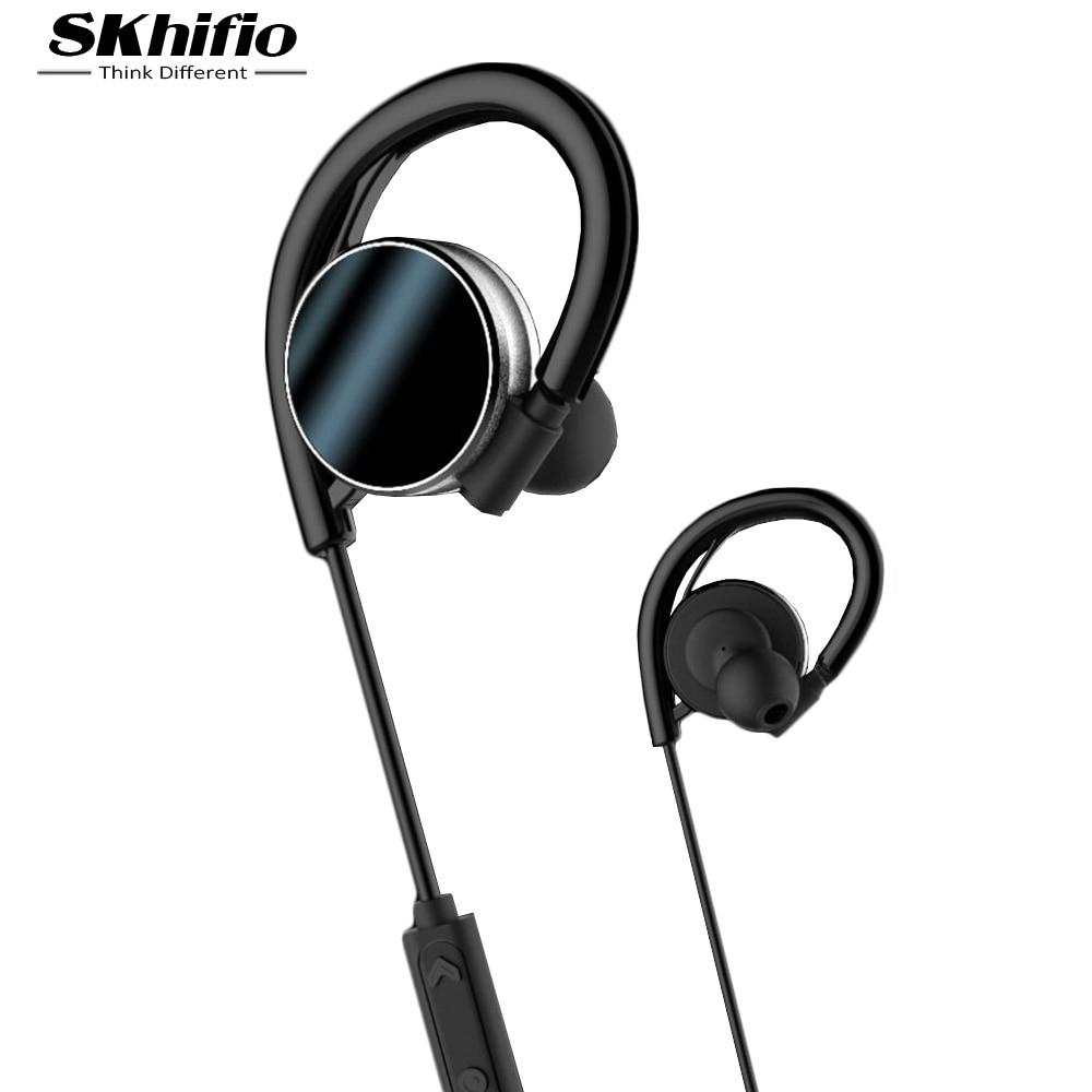 SKhifio K4 Sport Bluetooth Earphone IPX7 Waterproof Headset Earhook Wireless Earphone IPX7 Headphone with Microphone for Phone