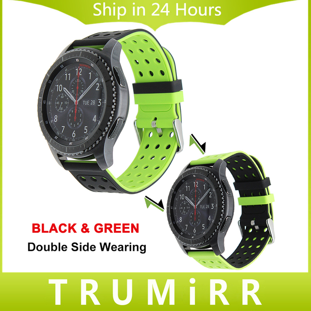 22mm Silicone Rubber Watch Band Double Side Wearing Strap for Samsung Gear S3 Classic Frontier Wrist Belt Bracelet Multi Colors