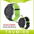 22mm caucho de silicona watch band correa para samsung gear s3 clásico de doble cara vistiendo frontera correa de muñeca pulsera multi de los colores