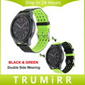 22mm faixa de relógio de borracha de silicone dupla face vestindo cinta para samsung gear s3 clássico fronteira correia de pulso pulseira multi cores