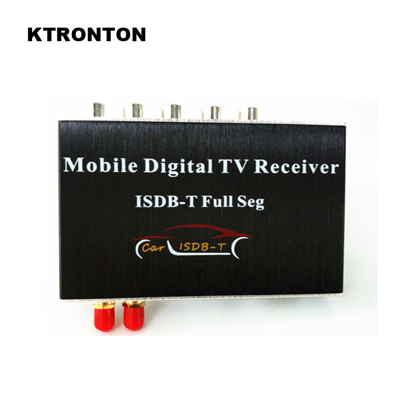 140-190km/h Car Mobility Full Seg ISDB-T Digital Dual Antennas TV Tuner Receiver Box with USB HDMI Slot for Brazil, Philippines car auto external high definition full seg isdb t digital tv receiver with 2 tuners 2 antennas car dvd gps dual isdb t tv box