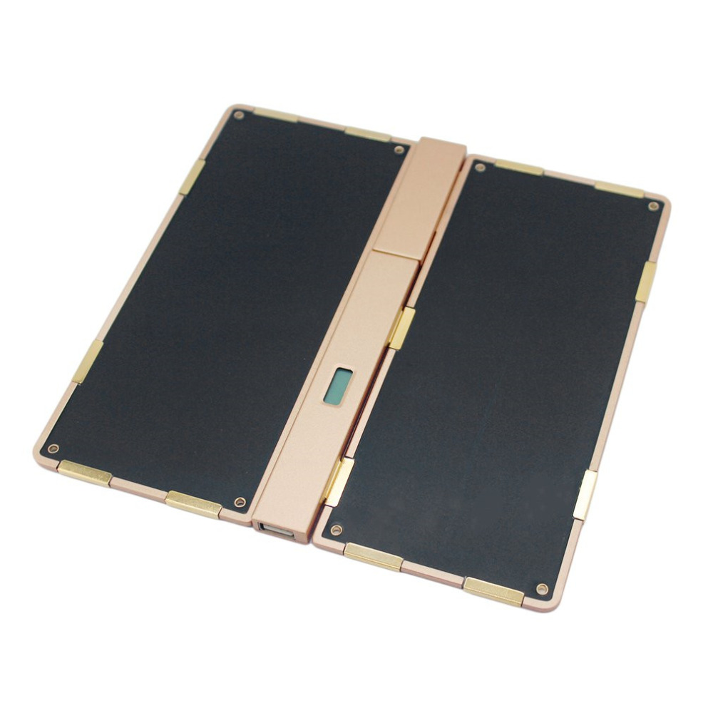 Portable Solar Power Bank Stitching Free Ultra Thin Alloy External Solar Battery Charger for PC Camera USB Device Free Shipping super slim perfume mobile phone power bank 3000mah portable external battery charger powerbank pack for cell phone