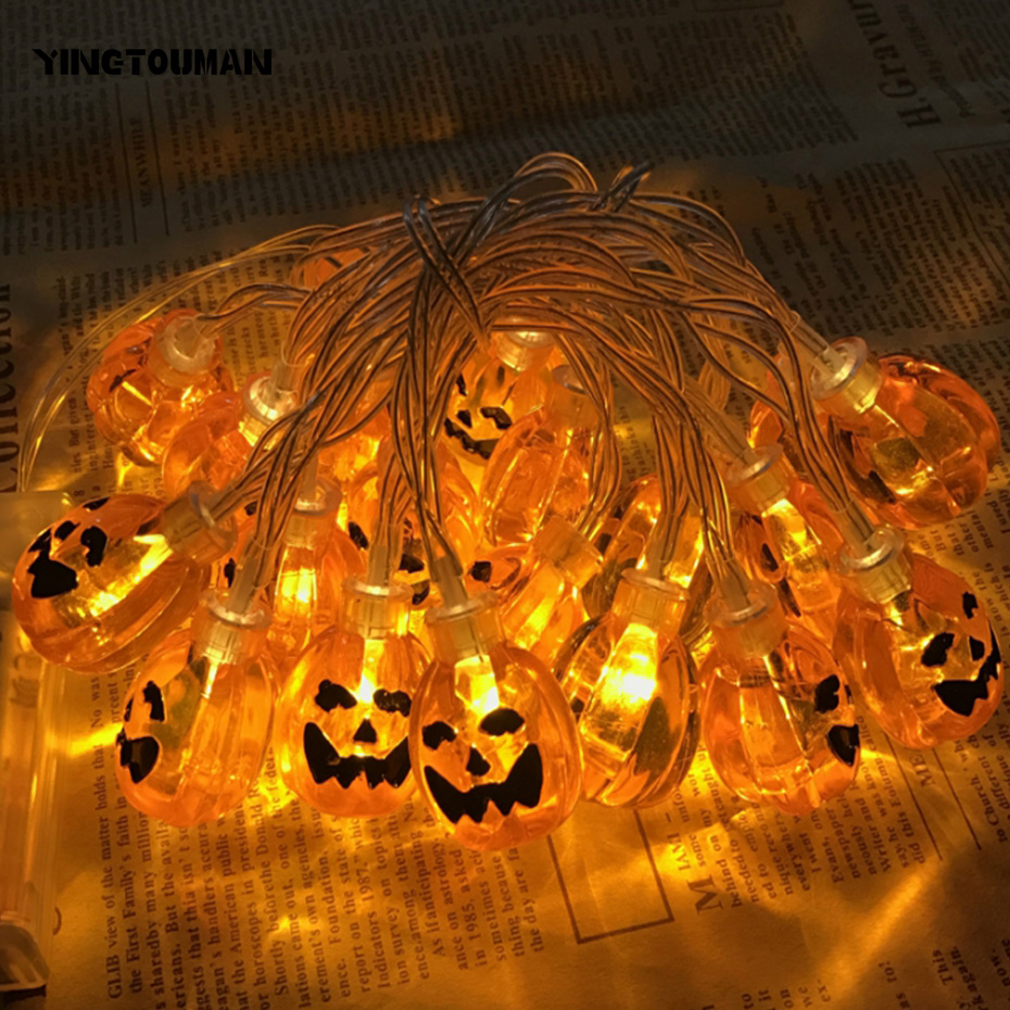 YINGTOUMAN Pumpkin Type LED Lamp Christmas Wedding Party Holiday LED Lights Outdoor Deco ...