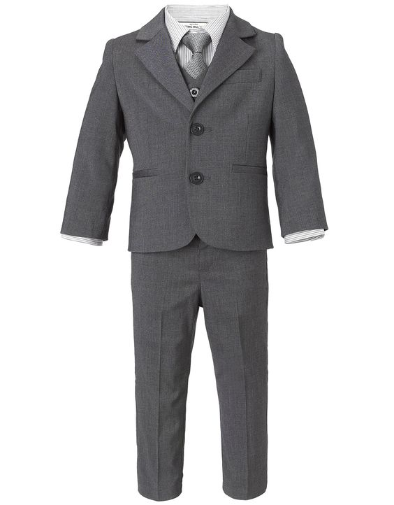 2017 Kerbe Revers Jungen Anzug Maß Einreihiger Grau Kid Anzüge Jungen Hochzeitsanzug Jungen Formalen Tragen Anzug (jacket + Pants + V Jahre Lang StöRungsfreien Service GewäHrleisten