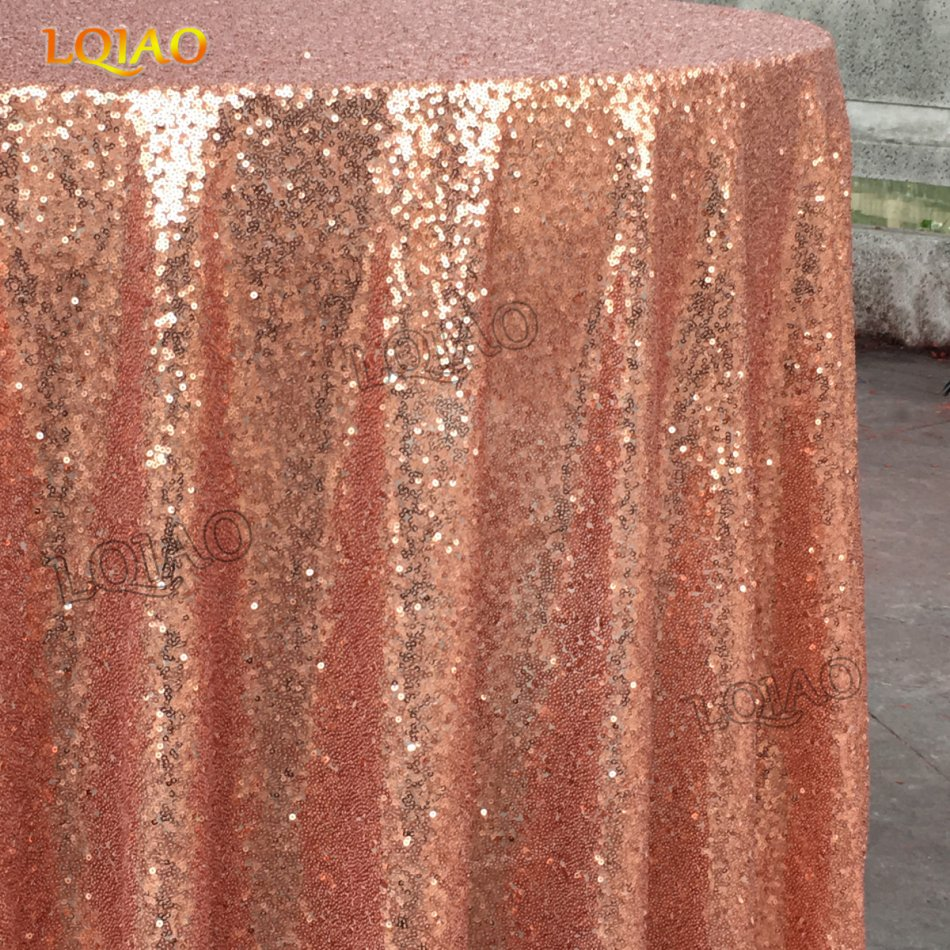 120 Round Sparkly Rose Gold Sequin Table Cloth Cake Tablecloth Linens For Wedding Decoration In Tablecloths From Home