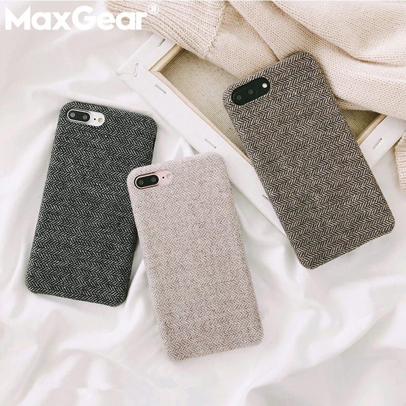 Fabric-Case Phone-Cases Back-Cover Winter Business for X Xr-Xs Max-8/7-plus/Soft/Winter