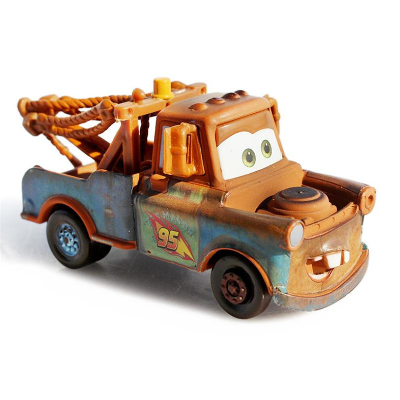 Mattel Disney Pixar Cars 2 Race Team Mater 1:55 Diecast Toy Vehicle Loose New