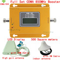 Conjunto completo CDMA GSM 850 Repetidor de Sinal de Celular CDMA 850 mhz Sinal de celular Amplificador 70dB GSM 850 Impulsionador Do Telefone Celular Kit Completo