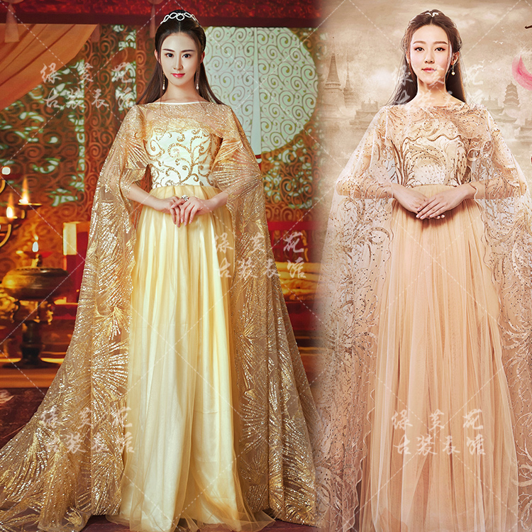 Su Jin 2 designs Fairy Women's Costume Forever Love Lasting for Three Times of Incarnations in Ten Miles of Peach Blossom Bushes