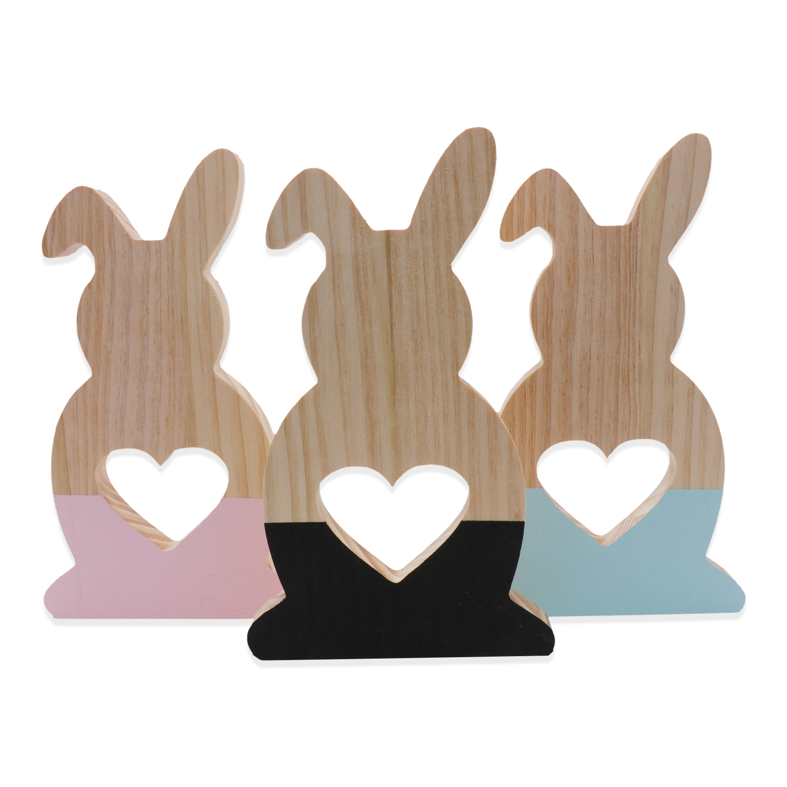 2018 New Arrivals Hollow Love Wooden Cut Rabbit Ear Ornament Craft Home Decoration For European Creative kids Toy Gifts