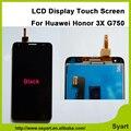 Alta qualidade Display LCD com Tela de Toque Do Painel de Vidro G750 digizel montagem lcd ferramentas gratuitas 5.5 polegada para huawei honor 3x g750