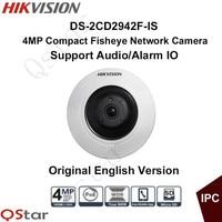 HIKVISION 4MP Multi Language 360 Degree Fisheye IP Network Camera DS 2CD2942F IS POE Audio Alarm