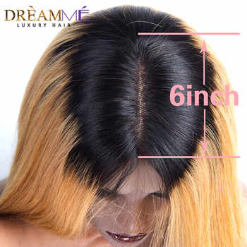 13x6 Long Parting Lace Front Human Hair Wigs With Baby Hair Pre-Plucked Ombre Human Hair Wig for Black Woman Dream Me