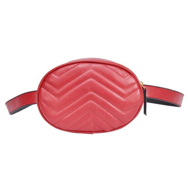 Saco Da Cintura de Couro de Design de luxo Mulheres PU Feminino Oval Forma Um Ombro Zipper Bloco de Fanny Cinto Senhoras Pequena Bolsa Com Zíper bolsa