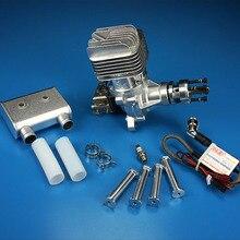 DLE55RA original RC flugzeug benzin motor einzylinder zwei hub auspuff natürliche wind gekühlt hand starten 55CC verschiebung