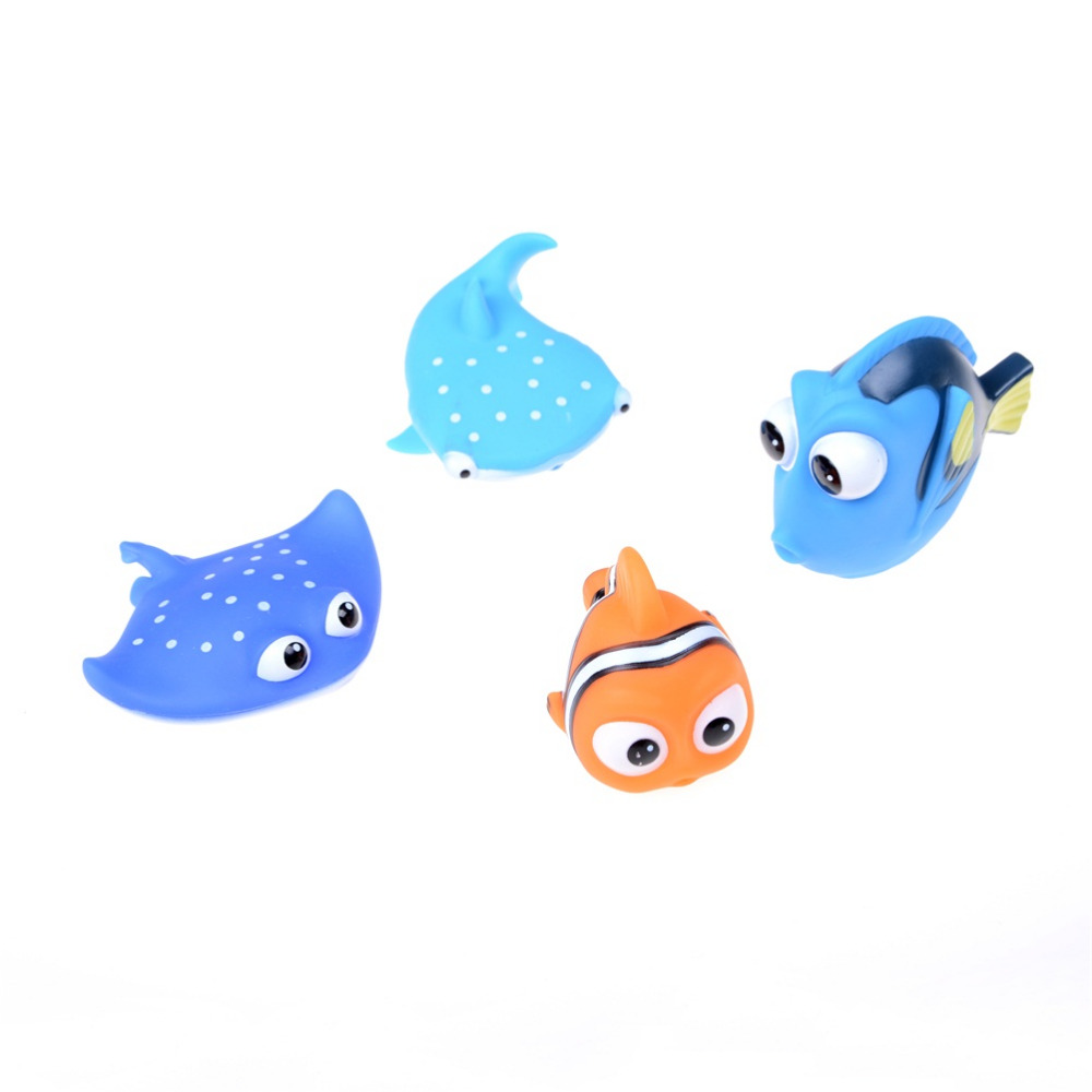 Toys & Hobbies 1pc Cute Baby Bath Toys Clown Fish Kids Pvc Float Bathroom Pinch Water Spray Toys Rubber Soft Squeeze Sounding Dabbling Toys Choice Materials