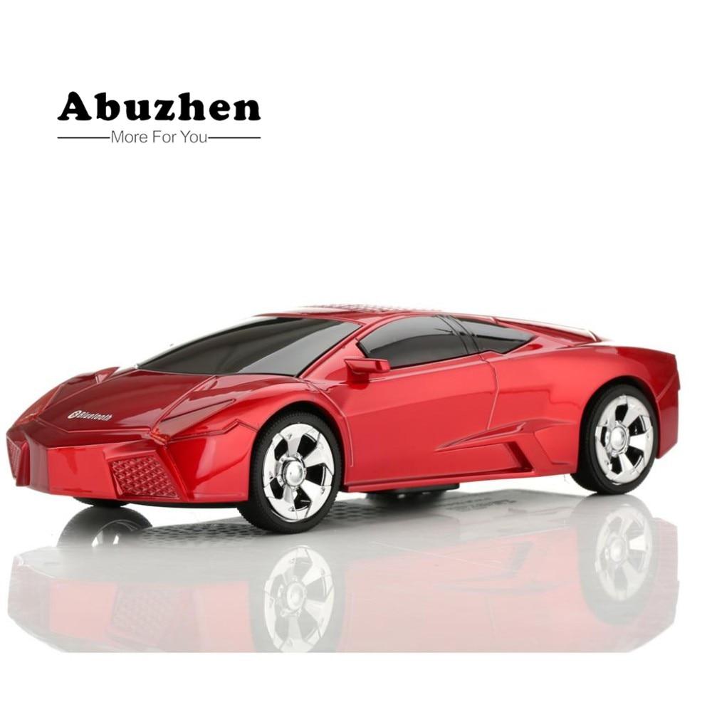Abuzhen мини Колонки Портативный Bluetooth Динамик Беспроводной Динамик автомобиля Форма Поддержка громкой связи TF FM USB для смарт- телефоны