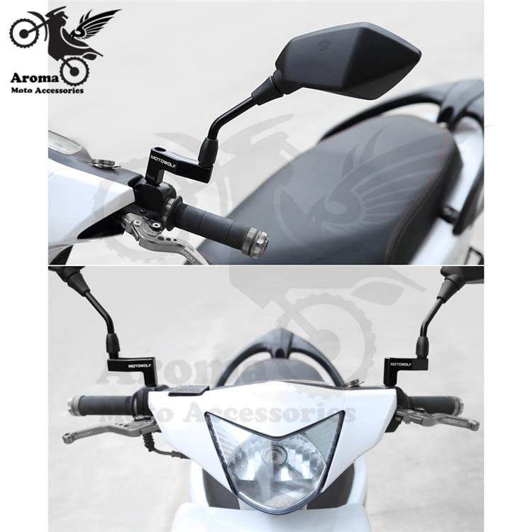 1 par extra moto rbike espejo retrovisor clamp kit adicional moto espejos retrovisores adpater Accesorios moto rcycle espejo montaje