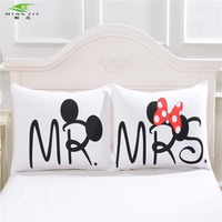 Mickey Mouse Pillowcase Valentine S Day Gift Body Pillow Case Cartoon 2Pcs Pair 50cmx75cm 50cmx90cm Handshake