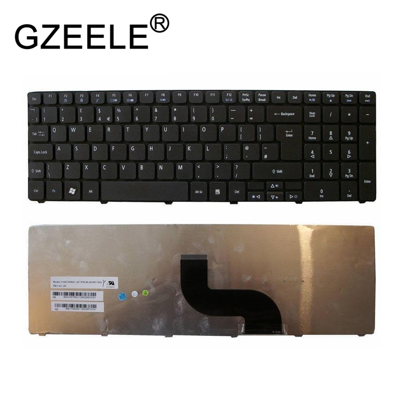 GZEELE NEW FOR ACER TRAVELMATE 5335 5344 5735 5740 5744 KEYBOARD UK LAYOUT KB.I170A.227 Replace Keyboards Black QWERTY