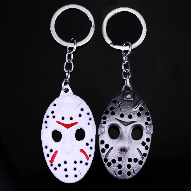 New Issue Friday the 13th Keychain White Jason Hockey Personal Mask Keyring Cosplay Black Friday Fashion Keychain
