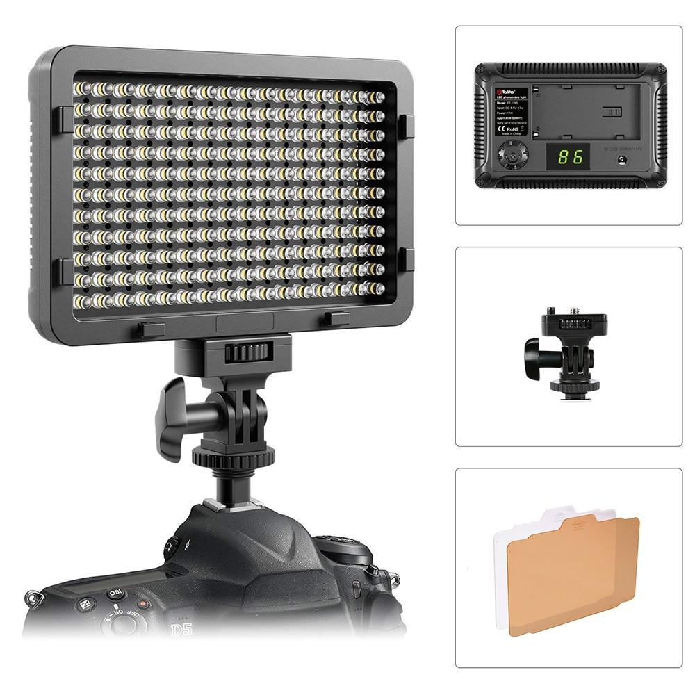 Tolifo PT 176S 176 LED Bulbs 5600K 3200K Ultra Bright Led Camera Video Light for Canon