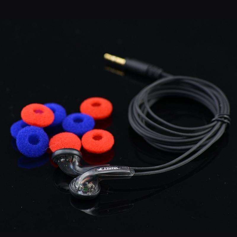 10pcs Wholesale MONK Plus Earphone Flat Head Earbuds VE Monk Plus Earphone Stereo Bass earphone For