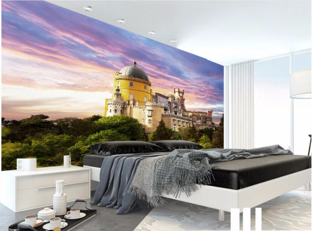 Custom photo 3d room wallpaper castle building scenery background wall decor painting 3d wall murals wallpaper for walls 3 d 3d wallpaper custom mural photo sea seagull scenery room decoration painting 3d wall murals wall paper for walls 3 d