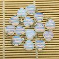 Encantos Do Coração de Pedra Natural Moonstone Opala Bead Charme Jóias Pingente de Coração De 16mm Coração Cores Agradáveis