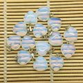 Natural Stone Heart Charms Moonstone Opal Bead Charm Heart Pendant Jewelry 16 mm Heart Nice Colors