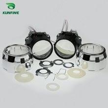 KUNFINE 2 Pçs/lote 2.5 polegada Bi-Xenon HID Lente Do Projetor do carro alto/baixo feixe de farol do carro do halogênio ou lâmpada de xenônio