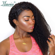 ILARIA Afro Kinky Curly Lace Front Human Hair Wigs For Black Women Brazilian Curly Full Lace Human Hair 360 Wig Pre Plucked(China)